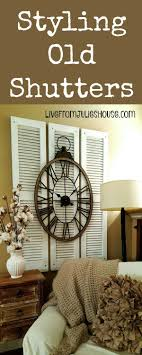 vintage window shutters repurpose tip junkie styling restore shutters scores check and repurposed