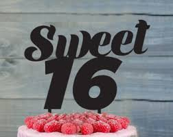 sweet 16 cake topper sweet sixteen cake topper 16th