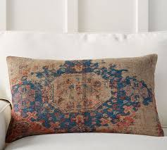 Pottery Barn Kilim Pillow Cover Navin Print Lumbar Pillow Cover Pottery Barn