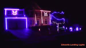 house performs a macklemore halloween light show