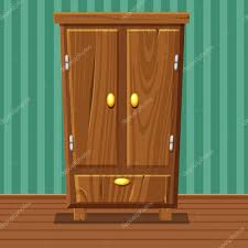 cartoon funny closed wardrobe living room wooden furniture