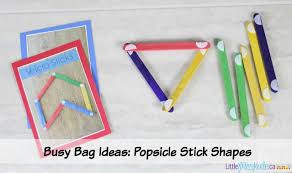 busy bag ideas for preschoolers popsicle stick velcro shapes