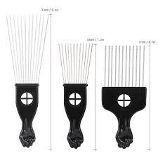 afro comb 3pcs metal afro comb american comb hair brush sales