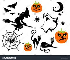 halloween white background halloween symbols set isolated on white stock vector 63625111