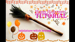tutorial how to make a miniature witch broom for dolls