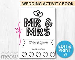 instantly download wedding activity book pdf file template