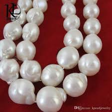 pearl necklace wholesale images Wholesale huge size 12 14mm fireball freshwater baroque white jpg