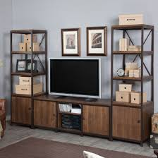 furniture contemporary tv wall unit with alluring bookcase for