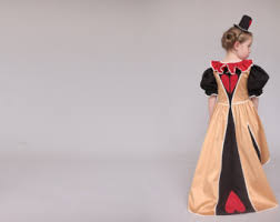 Queen Halloween Costume Queen Hearts Costume Etsy