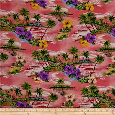 hoffman tropical collection small floral pink discount designer