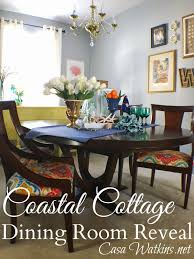 colorful coastal cottage dining room makeover reveal casa