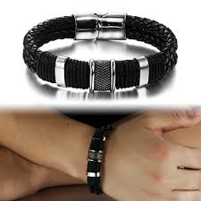 luxury man bracelet images 2015 newest luxury man black 316l stainless steel mix cz carbon jpg
