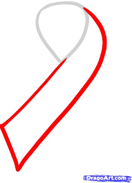how to draw a cancer ribbon breast cancer ribbon by