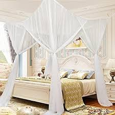 White Bed Canopy Amazon Com Maydecor 4 Corner Post Bed Canopy Mosquito Net Full