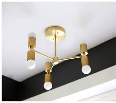 Mid Century Modern Ceiling Light Minimal Chandelier Modern Ceiling Lighting Brass Ceiling