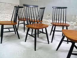 scandanavian chair set of 6 vintage scandinavian chairs in teak 1950s design market