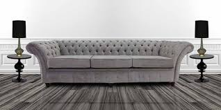 Fabric Chesterfield Sofa Bed Silver Fabric Chesterfield Sofa Designersofas4u