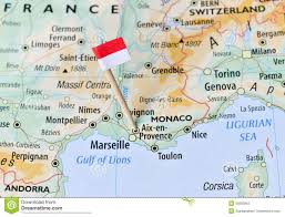 Montpellier France Map by Monaco Flag On Map Stock Photo Image 55692963
