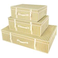 wedding dress storage boxes gold stripe garment storage boxes hangerworld