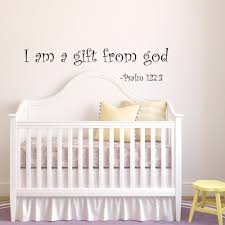 i am a gift of god nursery wall decal baby vinyl wall quotes