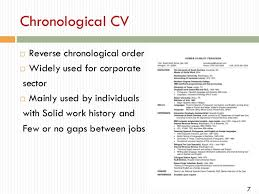 Chronological Order Resume Example Curriculum Vitae Reverse Chronological Order Research Paper