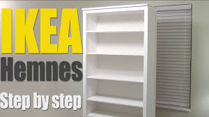ikea shelf hack ikea hemnes bookshelf step by step how to assemble 002 456 44