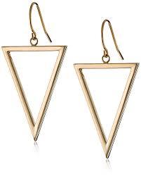 triangle earrings 14k yellow gold triangle dangle earrings jewelry