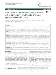 chest pain in the emergency department risk stratification with