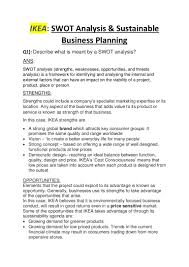 ikea swot analysis and business planning