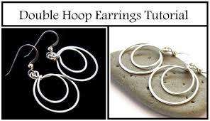 make dangle earrings how to make hoop dangle earrings easy beginner jewelry