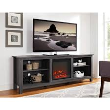 Tv Stand With Fireplace Walker Edison Furniture Company 70 In Wood Media Tv Stand Console