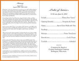 Sample Of Funeral Programs 7 Funeral Program Sample Itinerary Template Sample