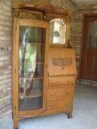 Curio Cabinets Shelves Oak Curio Cabinets Foter