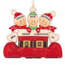 santa s boot family of 3 personalized ornament