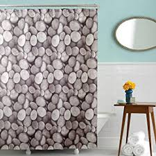 amazon com waterproof fabric shower curtains with 12 metal rings