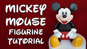 Mickey Mouse Figurine Cake Topper Tutorial How To Youtube