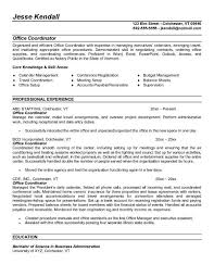 professional office coordinator resume sample displaying