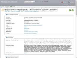 non conformance report form template process audits non conformity reports