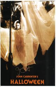 halloween theme background michael myers authentic pop collectibles john carpenter autographed 11 17
