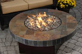 round propane fire pit table new stone propane fire pit focus furniture oriflamme table santa fe