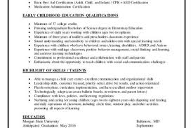 Childcare Resume Examples by Day Care Lead Teacher Resume Reentrycorps