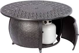 Alfresco Home Outdoor Furniture by Alfresco Home Margherita Cast Aluminum 48 Round Gas Fire Pit Chat