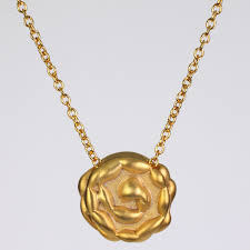 gold necklace fine jewelry images The humility rosette gold necklace in 14k or 18k ezzykaia jpg
