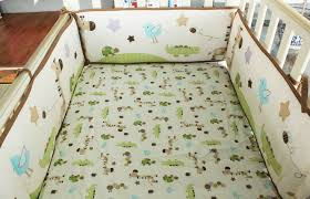 Nature Themed Crib Bedding Promotion 6pcs Baby Crib Bedding Set For Boys Cot Set Bed