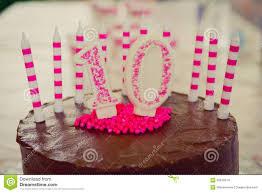 10th birthday cake decoration stock photo image 55818505