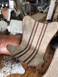 canvas u0026 leather butterfly chair u2013 fisher u0026 farmer