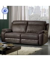 canape relax tissu canapé 3 places 2 assises relaxation électrique tissu microfibre