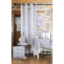 brise bise coeur bise campagne romantique blanc et gris décor poule brodée et