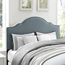 Velvet King Headboard Dorel Living Dorel Living Sloane Upholstered King Headboard Blue