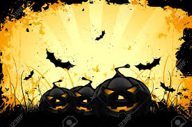 pumpkin halloween background grungy halloween background with pumpkins bats and full moon